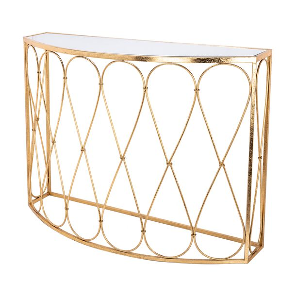 Homez Metal Console Table Gold  image number 1