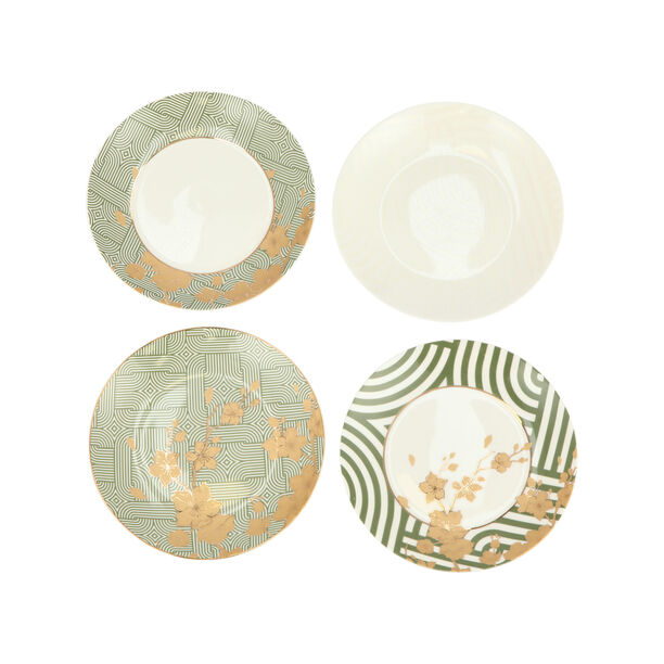 "Harmony 4 Pcs Set 7""Dessert Plate New Bone image number 2"