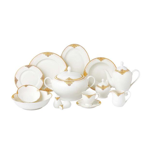 La Mesa 85 Pieces Porcelain Dinner Set image number 0