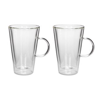 Mug Set 2 Pieces Double Wall Plain 350Ml Veer