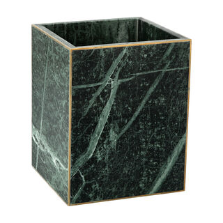 Trash Bin Green Marble Dia