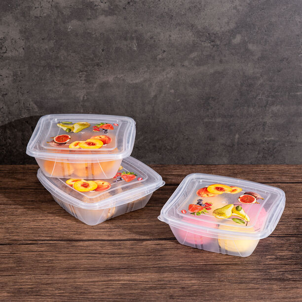 3 Pieces Square Food Containers Snips  image number 2