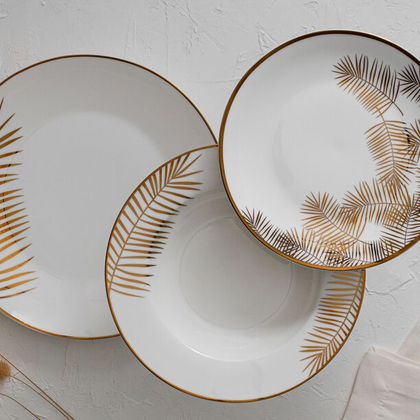 La Mesa Dinner Set 18 Pieces Gold Leaf  image number 0