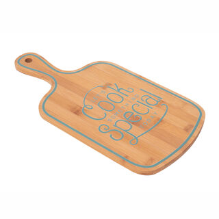 Alberto Bamboo Cutting Board W/Handle Green Color