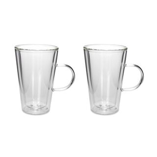 Arabic Tea Cups Double Wall Glass 2 Pieces