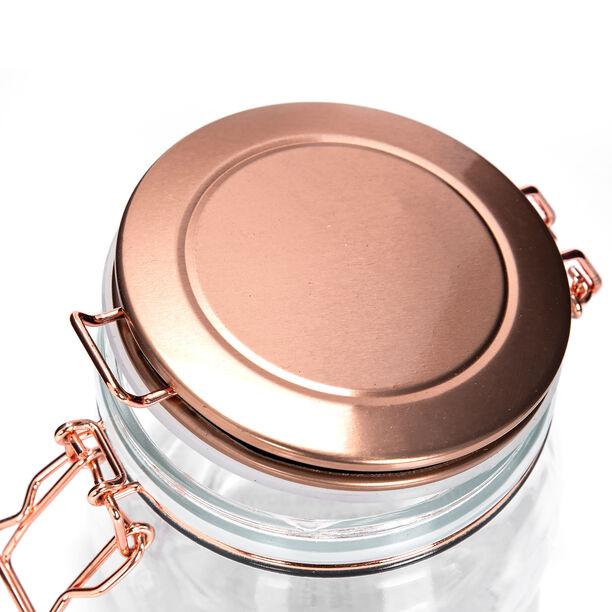 Alberto Glass Storage Jar With Metal Clip Lid 1100Ml image number 2