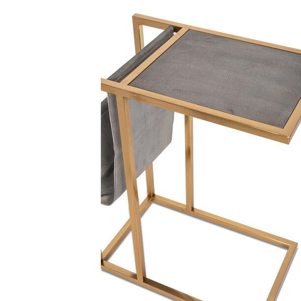 طاولة جانبية من المعدن و الخشب  image number 1