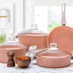 Alberto Granit 7Pcs Cookware Pinky image number 4