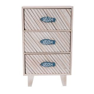 "Wooden Cabinet ""Blue Fish"""
