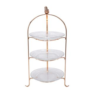La Mesa Gold Plated Cakestand 3 Tire