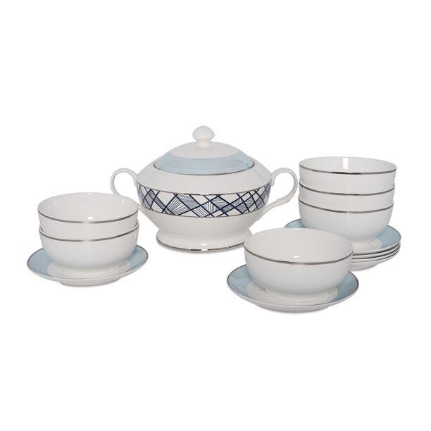 La Mesa 14 Pieces Porcelain Soup Tureen image number 1