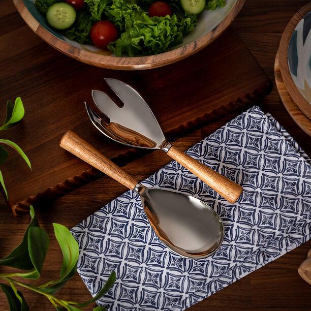 Arabesque Salad Server Set Of 2 Pcs image number 0