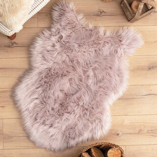 Cottage Faux Fur Purple