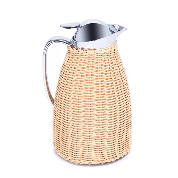 Dallety Stainless Steel Vacuum Flask Design Of Bamboo Light Beige 1L image number 0