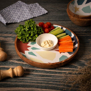 Arabesque Chip And Dip Plate