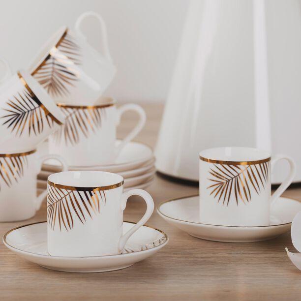 La Mesa Gold Leaf Coffee Cup Set 12 Pieces  image number 4