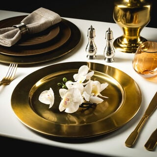Anceint Gold Charger Plate