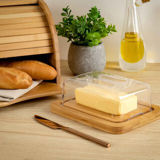 Alberto Bamboo Cheese Dome With Lid