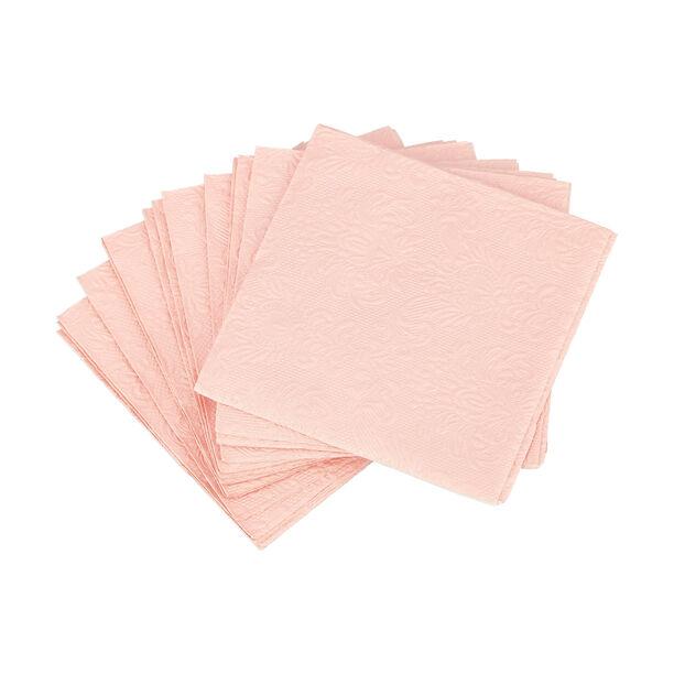 مناديل ورقية مربعة الشكل لون وردي من الجانس  image number 1
