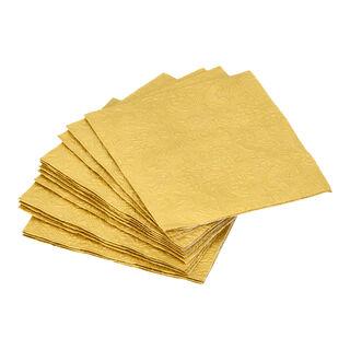 Elegance Serving Napkins Cocktail Paper Square Gold
