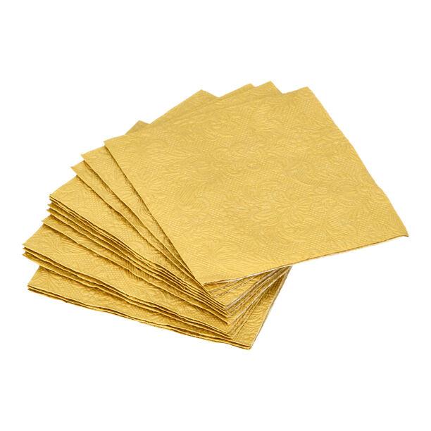 مناديل ورقية مربعة الشكل لون ذهبي من الجانس  image number 0