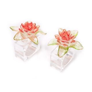 2 Pieces Acrylic Napkin Ring Polyresin Colored