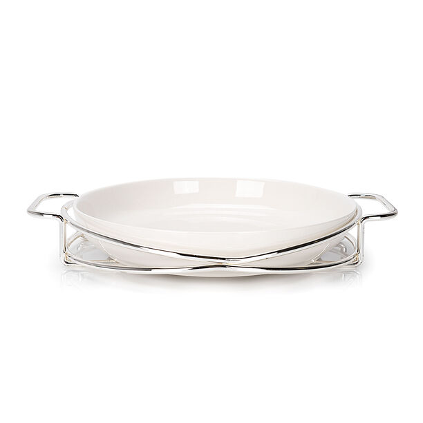 Round Plate With Stand Silver image number 2