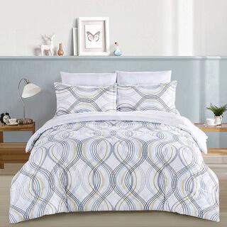 Cottage Comforter King Size Set 5 Pieces Balat White