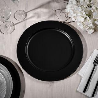 Abundance Charger Plate Black Nickel