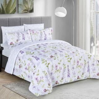 Cottage Comforter Set King Size 6 Pieces Beykoz Purple