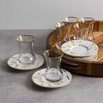 Arabic Tea Set 12 Pieces Tashkeel Gold image number 2