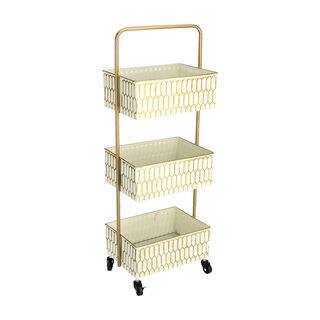 3Tiered Metal Square Serving Trolley