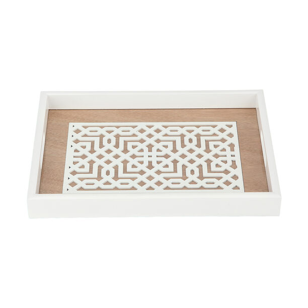 Wood Tray Pp 1Pc White Wood image number 2