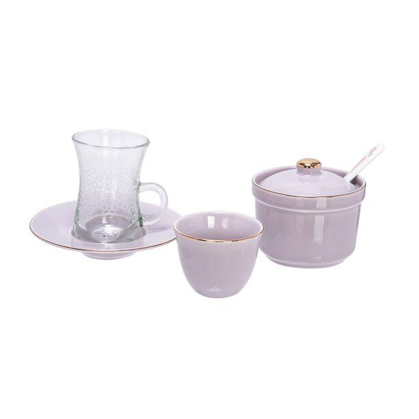طقم شاي و قهوة 20 قطعة  image number 1