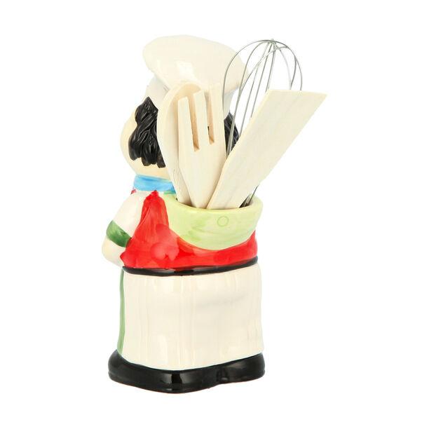 حامل ادوات المطبخ سيراميك تصميم شيف 23سم image number 2