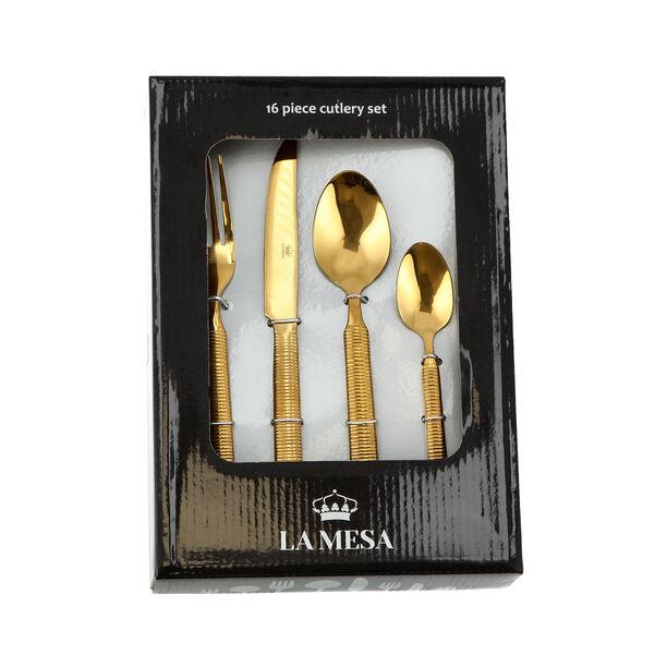 Heide 16 Pcs Cutlery Set Shiny Gold image number 2