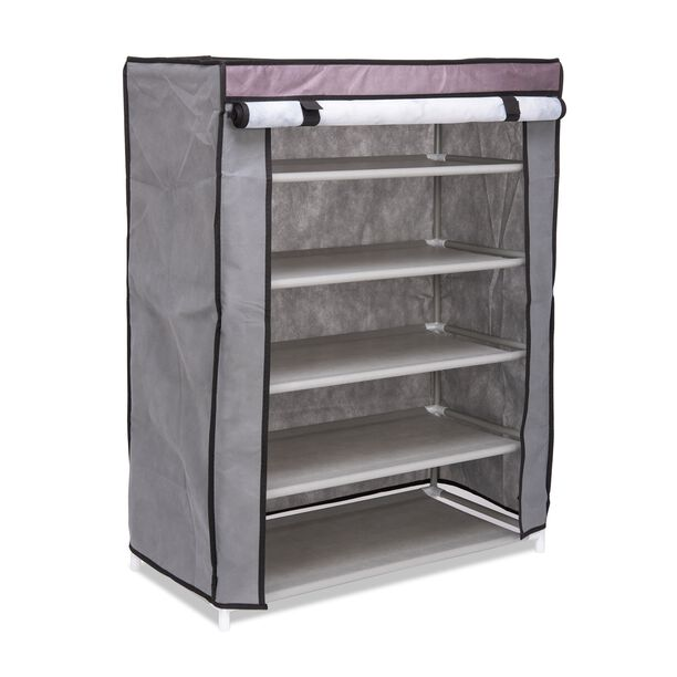 5Tier Shoe Rack 60*30*80Cm Grey image number 1