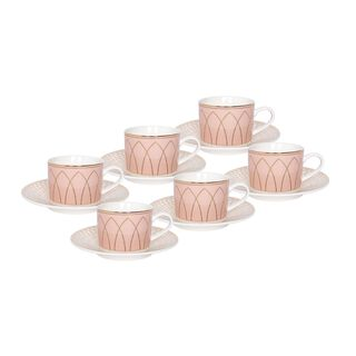 La Mesa 12 Pieces Porcelain English Tea Cups Set