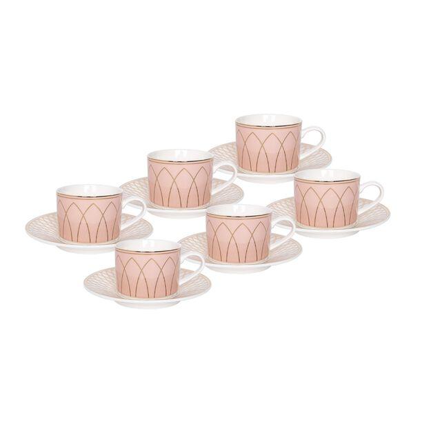 La Mesa 12 Pieces Porcelain English Tea Cups Set  image number 1