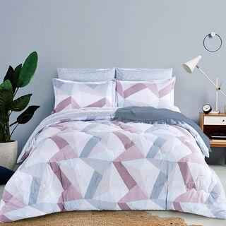 Cottage Comforter Single Size Set 3 Pieces Grey