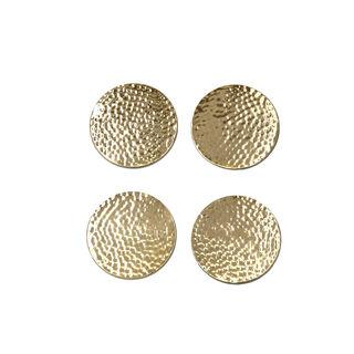 Coasters Steel Manuscript Gold 4Pc