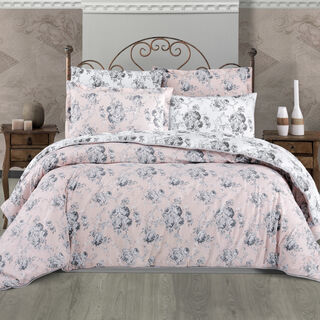 Cottage 3 Pieces Comforter Set Rosa Powder Twin Size