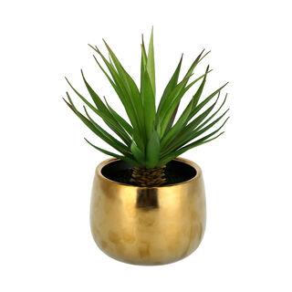 Artificial Plant Grass Sword In Pot Gold