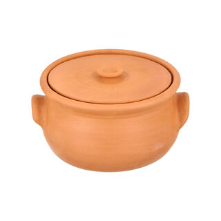 Elizi Clay Pot Handmade Lined Medium