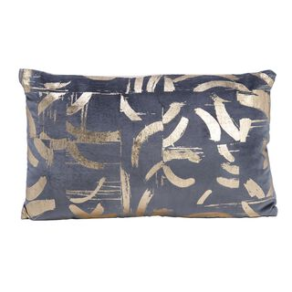 Cushion Cotton Silver Foiler Print 30X50 Cm