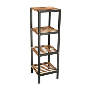4 Tiers Wooden And Metal Shelf