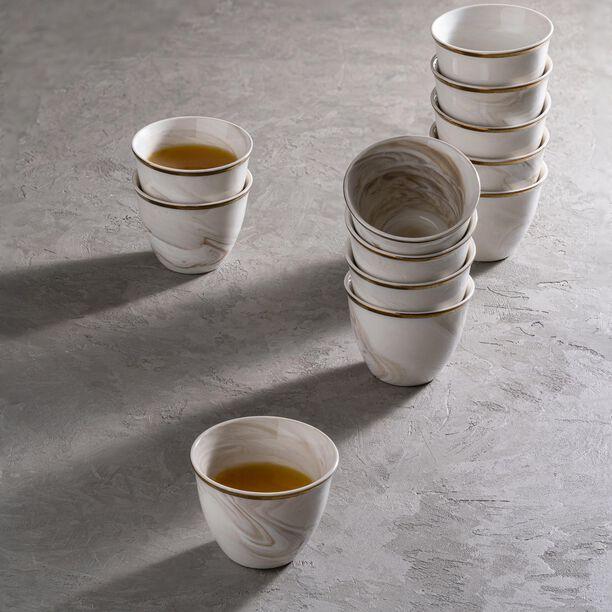 طقم فناجين قهوة عربية 12 قطعة رخام ذهبي من لاميسا  image number 3