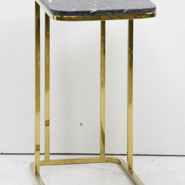 Side Table Silver Leg Black Top image number 0