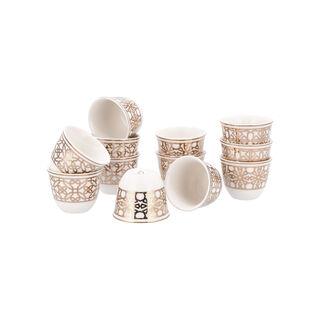 طقم فناجين قهوة عربية بورسلان 12 قطعة