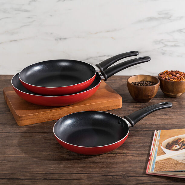 Non Stick Frypan Set Red image number 0